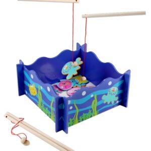 Дървена детска игра - Риболов - Детски играчки - Образователни играчки - Дървени играчки