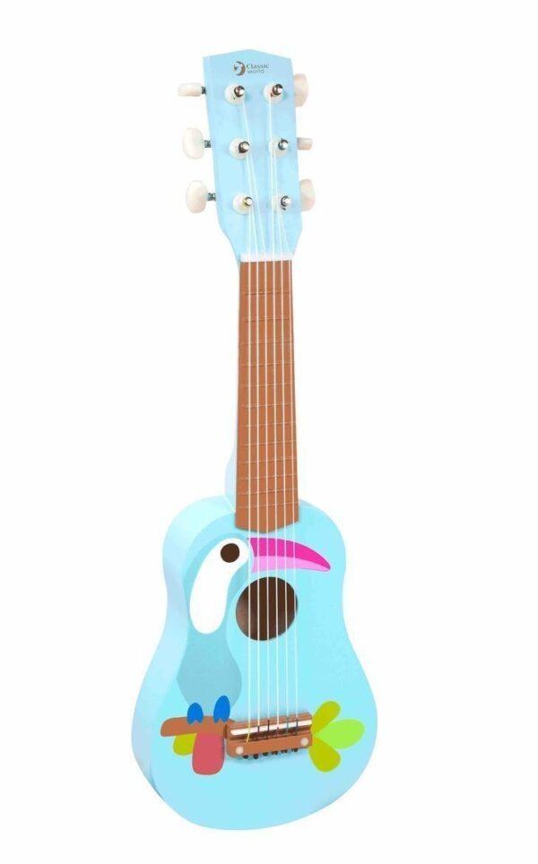 Дървена детска китара - Детски играчки - Музикални инструменти - Дървени играчки