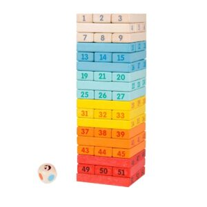 Дървена ДЖЕНГА за деца - цветна - Детски играчки - Образователни играчки - Дървени играчки