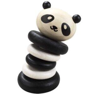 Дървена дрънкалка - панда - Детски играчки - Бебешки играчки - Дървени играчки