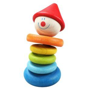 Дървена дрънкалка за бебета - клоун - Детски играчки - Бебешки играчки - Дървени играчки