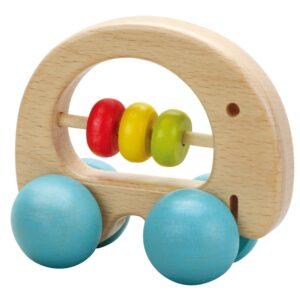 Дървена дрънкалка за бебета - слонче - Детски играчки - Бебешки играчки - Дървени играчки