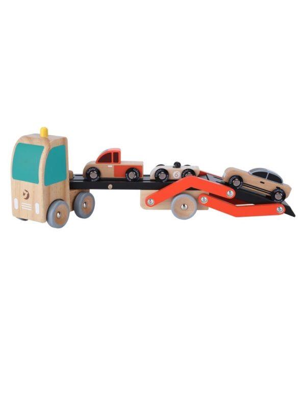 Дървена играчка - Автовоз с колички - Детски играчки - За дърпане и бутане - Дървени играчки