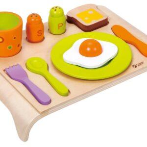 Дървена играчка - Комплект за закуска - Детски играчки - Кухни за игра - комплекти и консумативи - Дървени играчки