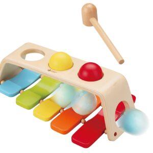 Дървена играчка - ксилофон с чукче - Детски играчки - Образователни играчки - Дървени играчки