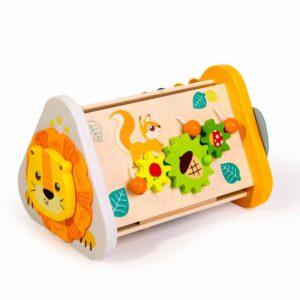 Дървена играчка - Сортер за най-малките, Джунгла - Детски играчки - Бебешки играчки - Образователни играчки - Дървени играчки