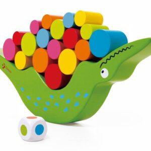 Дървена играчка за баланс Крокодилче - Детски играчки - Образователни играчки - Дървени играчки