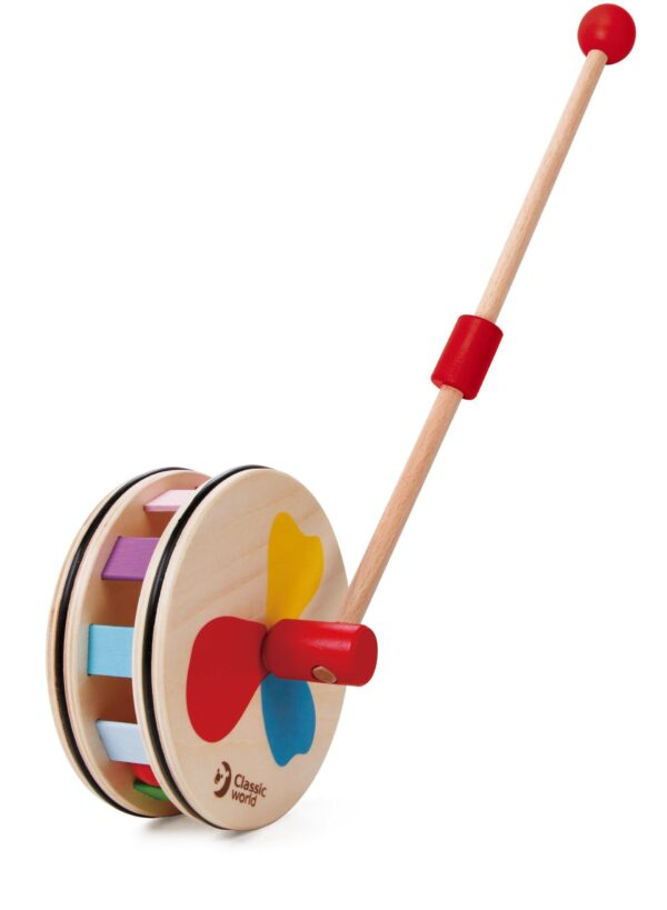 Дървена играчка за бутане Дъга - Детски играчки - За дърпане и бутане - Дървени играчки