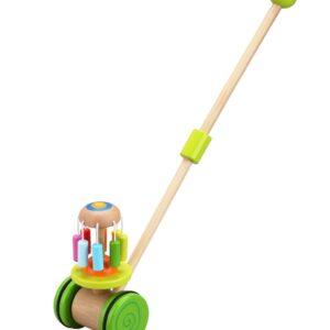 Дървена играчка за бутане Цвете - Детски играчки - За дърпане и бутане - Дървени играчки