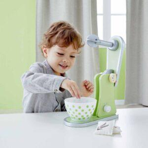 Дървена играчка за деца, Миксер - зелен - Детски играчки - Кухни за игра - комплекти и консумативи - Дървени играчки