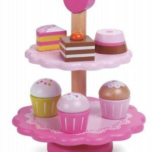 Дървена играчка за деца - поставка за сладкиши - Детски играчки - Кухни за игра - комплекти и консумативи - Дървени играчки