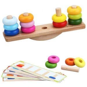 Дървена играчка за подреждане и баланс - Детски играчки - Образователни играчки - Дървени играчки