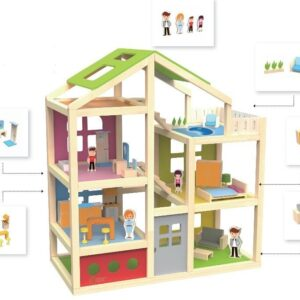 Дървена къща - вила - Детски играчки - Къщи за игра, маси и столове - Дървени играчки