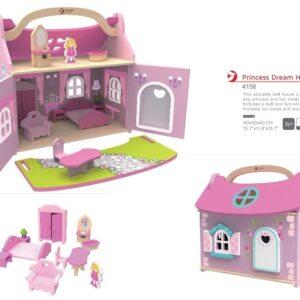 Дървена къщичка за игра - Принцеси - Детски играчки - Къщи за игра, маси и столове - Дървени играчки
