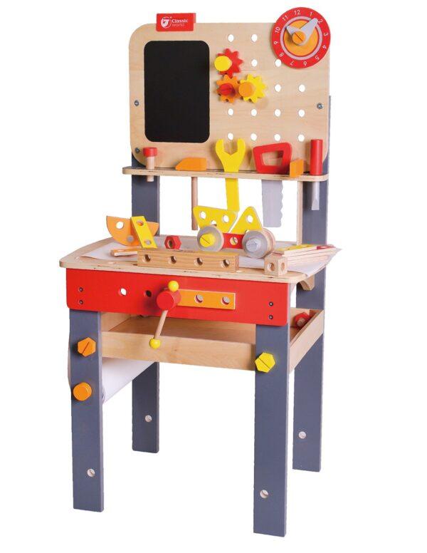 Дървена маса с инструменти - Работилница - Детски играчки - Образователни играчки - Дървени играчки