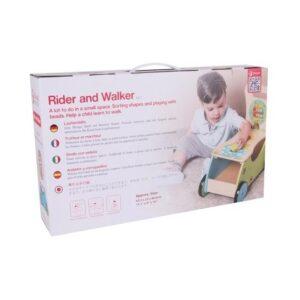Дървена проходилка за бутане и яздене - Детски играчки - За дърпане и бутане - Дървени играчки