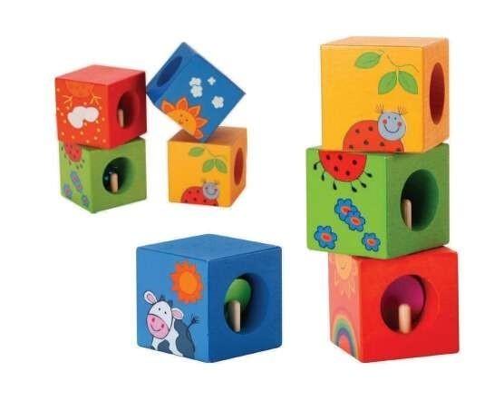 Дървени кубчета тип пъзел - Детски играчки - Пъзели - Дървени играчки