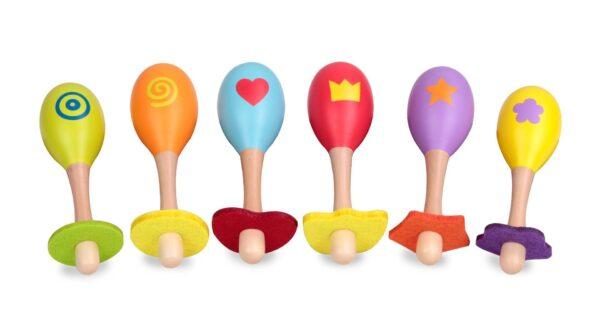 Дървени маракаси - Детски играчки - Музикални инструменти - Дървени играчки