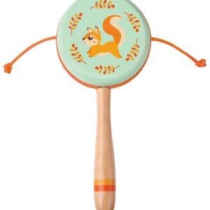Дървени маракаси - Катеричка - Детски играчки - Музикални инструменти - Дървени играчки