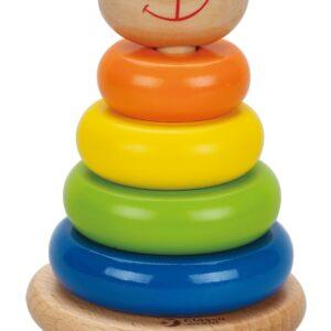 Дървени рингове за нареждане - играчка за бебета - Детски играчки - Бебешки играчки - Дървени играчки