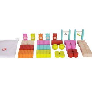 Дървено домино с Мечета - Детски играчки - Образователни играчки - Дървени играчки