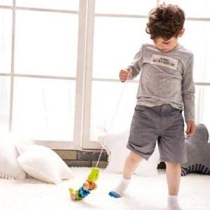 Дървено крокодилче за дърпане - Детски играчки - За дърпане и бутане - Дървени играчки