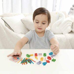Дървено математическо помагало за смятане - Детски играчки - Образователни играчки - Дървени играчки