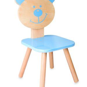 Дървено столче - мече - Детски играчки - Къщи за игра, маси и столове - За детето - Аксесоари и текстил за детска стая - Дървени играчки