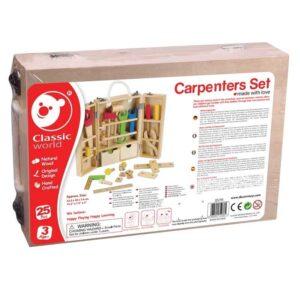 Дърводелски комплект с инструменти за деца - Детски играчки - Образователни играчки - Дървени играчки