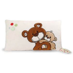 Декоративна плюшена възглавничка с Меченца - За бебето - Аксесоари за детска стая - Възглавници за спане и кърмене