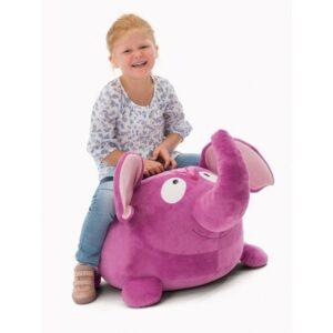 Декоративна плюшена възглавничка - Слонче - Детски играчки - За бебето - Плюшени играчки - Декоративни и детски възглавници - За детето - Аксесоари и текстил за детска стая