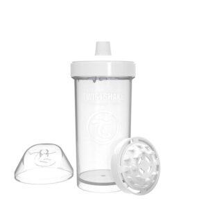 Детска чаша с шейкър Twistshake 360 мл 12+ месеца бяла - За бебето - Хранене - Детски и бебешки чаши