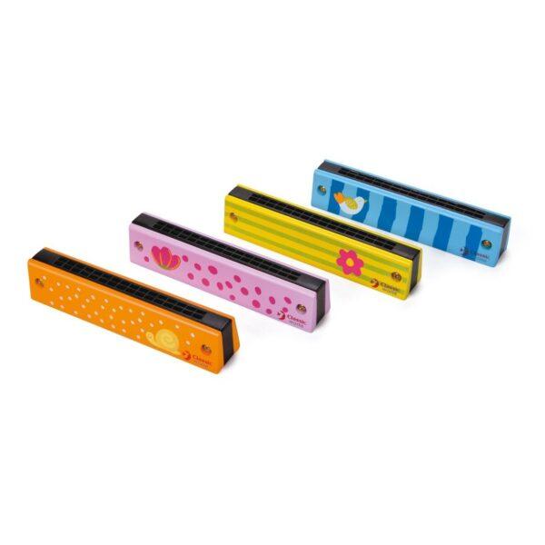 Детска дървена хармоника - Детски играчки - Музикални инструменти - Дървени играчки