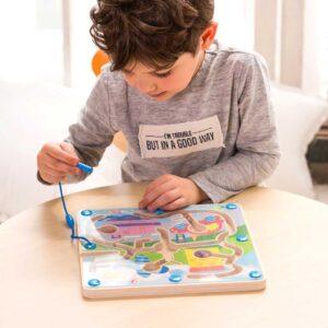 Детска дървена игра с магнити - трафик - Детски играчки - Образователни играчки - Дървени играчки