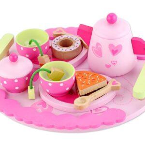 Детскa дървенa играчка - комплект за чай - Детски играчки - Кухни за игра - комплекти и консумативи - Дървени играчки