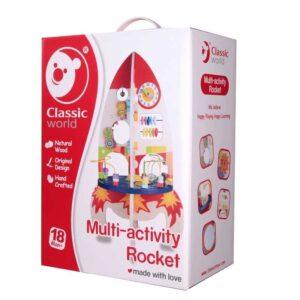 Детска дървена играчка ракета - Детски играчки - Образователни играчки - Дървени играчки