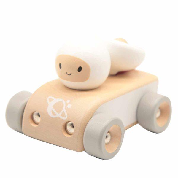 Детска дървена количка - Космонавт - Детски играчки - Дървени играчки