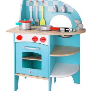 Детска дървена кухня - Детски играчки - Кухни за игра - комплекти и консумативи - Дървени играчки