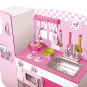 Детска дървена кухня за игра - Детски играчки - Кухни за игра - комплекти и консумативи - Дървени играчки