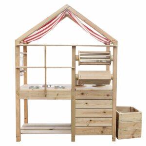 Детска дървена кухня за игра навън - Мебели и играчки за детски градини и центрове - Игри на открито