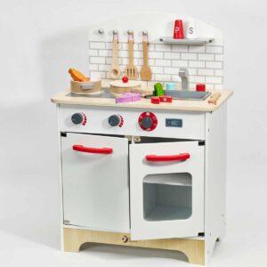 Детска дървена кухня за игра с аксесоари - Детски играчки - Кухни за игра - комплекти и консумативи