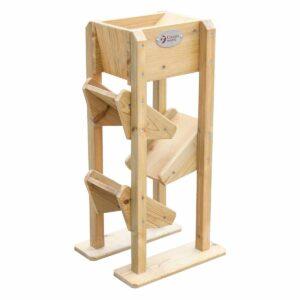 Детска дървена кула за игра в пясъчник - Мебели и играчки за детски градини и центрове - Комплекти за игра с пясък