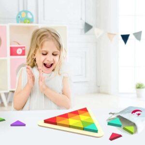 Детска дървена мозайка - Детски играчки - Образователни играчки - Дървени играчки