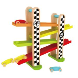 Детска дървена състезателна писта - Детски играчки - Образователни играчки - Дървени играчки