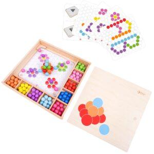 Детска дървена цветна мозайка - Детски играчки - Образователни играчки - Дървени играчки