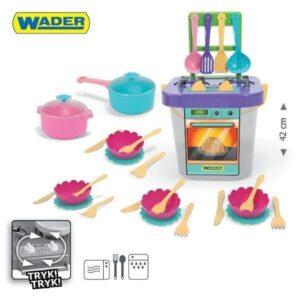 Детска готварска печка с аксесоари - 31 елемента - Детски играчки - Кухни за игра - комплекти и консумативи