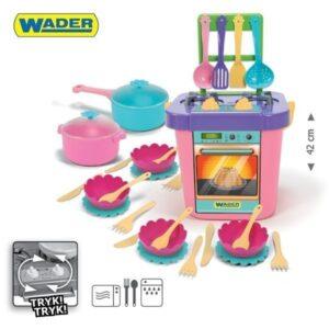 Детска готварска печка с аксесоари - Детски играчки - Кухни за игра - комплекти и консумативи