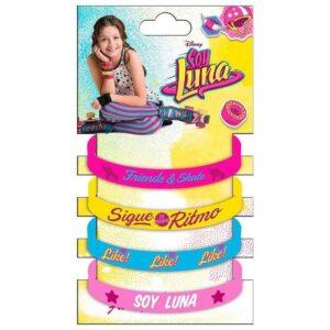 Детска гривни Soy Luna - 4 бр. - Детски играчки - Детски гримове, комплекти и аксесоари - За детето - Soy Luna - Детски аксесоари