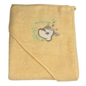 Детска хавлия с качулка - жираф жълта - За бебето - Детски и бебешки аксесоари за баня - Хавлии и кърпи за баня