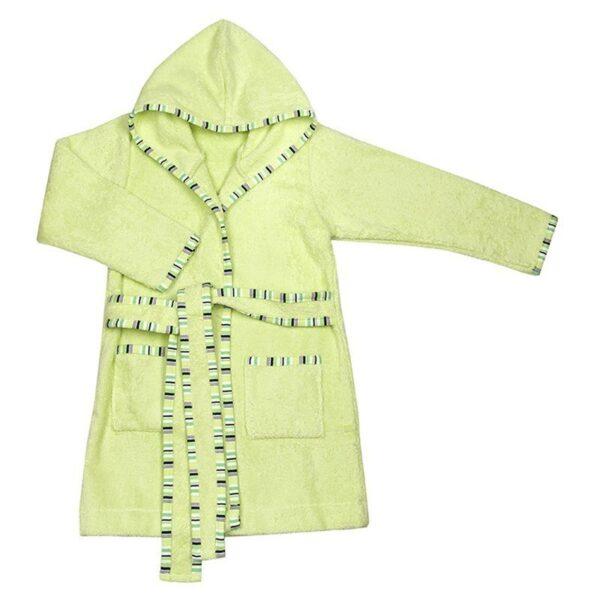 Детска хавлия за баня с качулка светло зелена - За бебето - Детски и бебешки аксесоари за баня - Хавлии и кърпи за баня